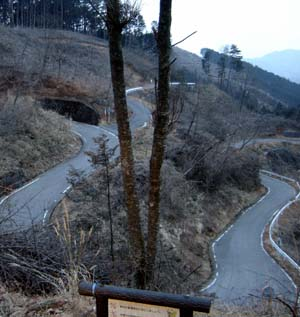 Lonely mountain roads in Ashikaga